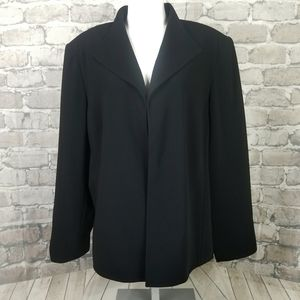 Louben Woman Open Blazer Size 18W Black Lined